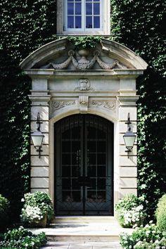 The Enchanted Home: You had me at the front door. Portal, Grand Entrance, Entrance Doors, Front Doors, Doorway, House Entrance, Exterior Design, Interior And Exterior, Door Entryway