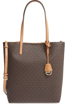 e53d9aebf43e MICHAEL Michael Kors  Large Hayley  Faux Leather Tote available at   Nordstrom Diaper Bag