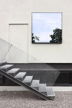 metalic stairs
