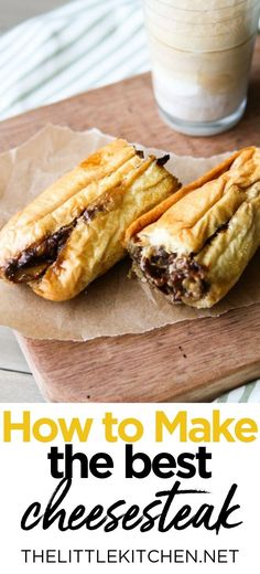 This cheesesteak recipe is one of my favorites. I'll show you step-by-step how to make cheesesteak sandwiches right at home! Sandwich Bar, Roast Beef Sandwich, Steak Sandwich Recipes, Sliced Roast Beef, Steak Sandwiches, Beef Recipes, Cooking Recipes, Recipies, Cheesesteak Recipe