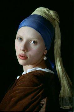 """Scarlett Johansson """"Girl with a Pearl Earring"""", 2003 costume design Dien van Straalen"""
