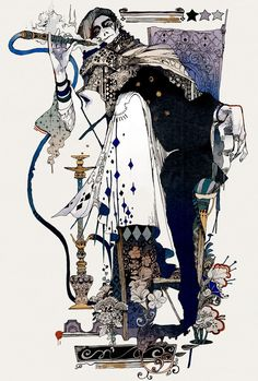 Akiya Kageichi is a Japanese illustrator who calls himself Golden Gravel, a name which may refer to Japanese rock gardens. His sinister jesters, lazy rulers and clandestine warriors are set within …