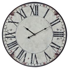 wildon home roman numeral oversized wall clock in white u0026 reviews wayfair