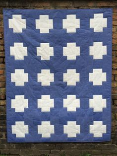 Quiltmanufaktur / Andrea Kollath: Modern Quilt, Blue Cross
