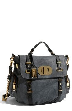 Badgley Mischka Canvas Satchel in Black Gray Best Handbags e1136d8318724