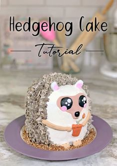 How To Make a Hedgehog Cake - Hedgehog Cake Tutorial - Chocolate Nutella Cake #hedgehog #cake #tutorial #nutella #hazelnut