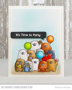 It's a party featuring Birdie Brown's Bitty Bears from Day Four of MFT's September Release Countdown! Details on my blog...