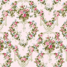 Camilla Trellis Pink CF13061 Cotton Fabric by by agardenofroses, $11.00