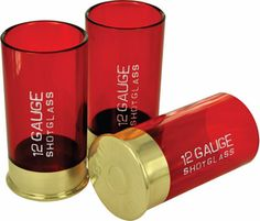 These unique GiftsBeyond.com  shot glasses look just like empty shotgun shells Comes with four impact-proof plastic red shot glasses with metal bases, each measuring in at 4 x 4 x 7.5 cm. Designed not to break when you inevitably drop it. Great for gun lovers or anyone looking to make their next party a blast  Color: Red and goldIncludes 4 glasses      If you should have any questions please contact CustomerServiceGiftsBeyond.com