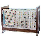 Mod Dot Gender Neutral Modern 4 Piece Crib Bedding Set $200.00