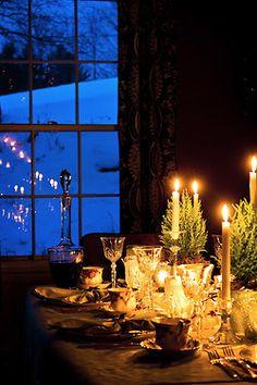 Christmas Dinner....so romantic.