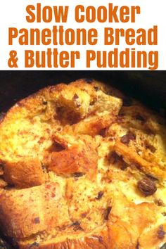 Slow Cooker Panettone Bread and Butter Pudding is a delicious warm winter dessert made with Italian panettone slices and custard, ideal for the Holidays Italian Panettone, Panettone Bread, Bread And Butter Pudding, Winter Desserts, Christmas Inspiration, Food Preparation, Christmas Recipes, Slow Cooker, Food To Make