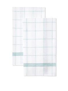 56% OFF Anne De Solene Set of 2 Kitchen Towels (Vert)