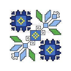 123 Cross Stitch, Simple Cross Stitch, Modern Cross Stitch, Cross Stitch Embroidery, Ethno Design, Point Lace, Bulgarian, Flower Designs, Pixel Art