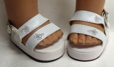 American Girl Doll White Platform Sandals