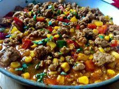 Chilli z mięsem mielonym i cukinią - Blog z apetytem Snack Recipes, Snacks, Chilli, Kung Pao Chicken, Chana Masala, Beans, Soup, Vegetables, Breakfast