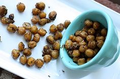 Balsamic Roast Chick Peas- great snack or instead of croutons on a salad