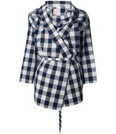 STELLA JEAN checked asymmetric jacket