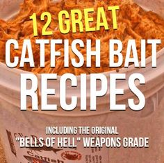 Bait Secrets and 12 Catfish Bait Recipes ---ha - he says he will not be responsible for you vomiting Diy Fishing Bait, Homemade Fishing Lures, Best Fishing, Saltwater Fishing, Fishing Tips, Fly Fishing, Fishing Stuff, Fishing Poles, Women Fishing