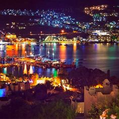 Bodrum, known as Halicarnassus in the ancient times, is a district in the… Istanbul, Turkey Country, Republic Of Turkey, Holiday Resort, City Lights, All Over The World, Natural, Travel Inspiration, Vacation