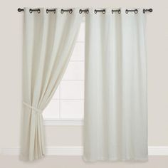 Ivory Bori Curtain - for living room and dining room. Has similar texture to sofa.