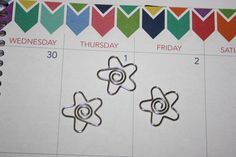 Flower Paper Clips  or bookmarks for erin condren life planner eclp filofax, planning accessories and decorations.