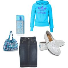 A fashion look from July 2012 featuring adidas hoodies, skirts and TOMS flats. Browse and shop related looks. Apostolic Fashion, Modest Fashion, Modest Clothing, Fashion Outfits, Womens Fashion, Apostolic Clothing, Apostolic Style, Cute Modest Outfits, Cute Dresses