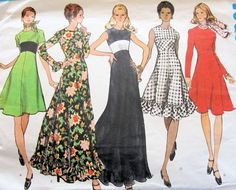 vintage 70's dress pattern... loving it.. maybe I'd ditch the frill though!!!