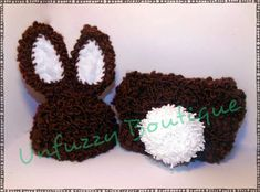Boy Bunny Diaper Cover Set | Busting Stitches