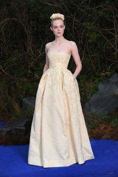 Elle Fanning's Princess Style Diaries - Maleficent star Elle Fanning in George Hobeika Couture-Wmag
