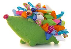 Hedgehog rattle - kids would love the tags