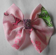 Pink Pair of Toddler Baby Girls Bows Hairbow NEW! Attached to: Alligator clip