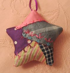 Victorian Crazy Quilt Christmas Star Ornament by XmasMuse on Etsy