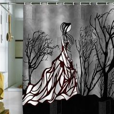 shower curtain - how cool is that? (and yes, i'm talking to you, @Amy Franklin)