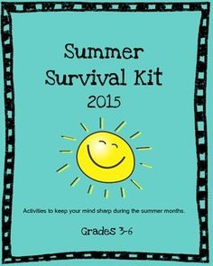 16 Pages to keep your students' minds sharp during the summer months!!  This is a wonderful gift to send home with all of your students. Recommended websites, book list, reading record, reading log, three book report forms, summer activity ideas, summer journal/scrapbook pages, kitchen chemistry activities, and an award for students when they complete this packet!