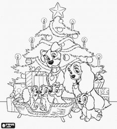 Disney Christmas 5 Coloring Pages Printable And Book To Print For Free Find More Online Kids Adults Of