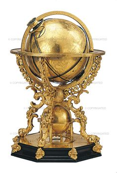 Johann Reinhold (1550-1596) Celestial globe clock, Augsburg, 1588 Paris, Musée des Arts et Métiers, inv. 07491  This is one of the five extant examples of an astronomical instrument driven by a clockwork mechanism built by Johann Reinhold. It reproduces the movements of the heavenly bodies, and it allows the user to determine the hour and day of the year as well as performing numerous other calculations.