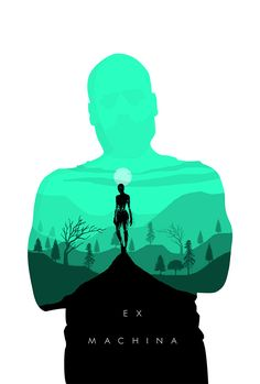 EX Machina Movie Poster Concept by Ben Parkin - Illustrated Posters with Double Exposure Effects