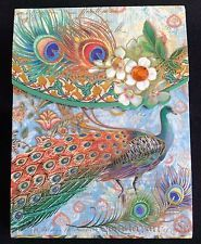 Punch Studio Pocket Size Decorated Note Pad* Floral India Peacock  66318