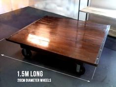Large Industrial Cart Coffee Table