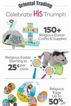 Craft kits, Sunday School handouts, Easter eggs, toys and more for your religious Easter celebrations. Easter Coloring Pages, Easter Religious, Easter Celebration, Oriental Trading, Party Shop, Craft Kits, Easter Crafts, Sunday School, Easter Eggs