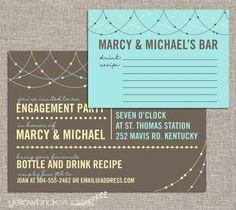 Summer invites for bridal shower