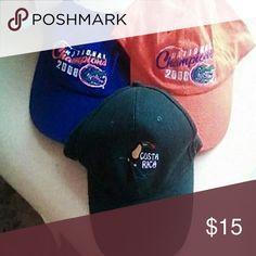 ASSORTED CAPS NEW 3 new, never worn caps Accessories Hats