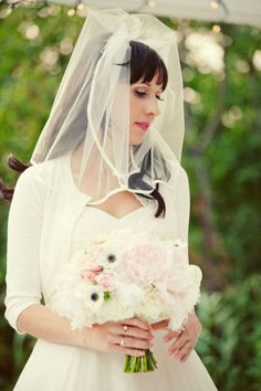 60s veil  #Rockabilly Wedding ... Wedding ideas for brides & bridesmaids, grooms & groomsmen, parents & planners ... https://itunes.apple.com/us/app/the-gold-wedding-planner/id498112599?ls=1=8 … plus how to organise an entire wedding, without overspending ♥ The Gold Wedding Planner iPhone App ♥