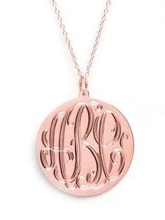 Another amazing monogram pendent in rose gold from BaubleBar!!