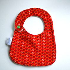 hand made Cotton baby dribble bib(orange tom ) £4.50