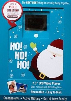 Video Holiday Greeting Card 2 Minute Recordable LCD Video  Color Screen  X MAS  | eBay