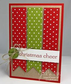 "Red & Green Polka Dots ""Christmas Cheer Card...by Jill's Ink: Chic Challenges."