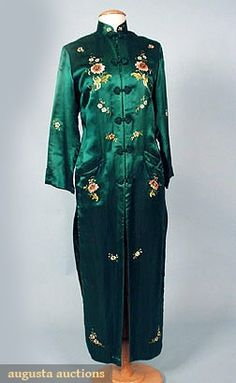 Chinese Embroidered Silk Coat, C. 1930, Augusta Auctions, May 2007 Vintage Clothing & Textile Auction, Lot 355