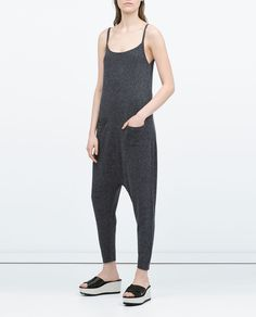 Image 1 of SLEEVELESS JUMPSUIT WITH POCKETS from Zara